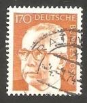 Sellos de Europa - Alemania -  516 G - Presidente G. Heinemann