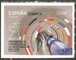 Stamps of the world : Spain :  60 anivº de la Organización Europea para la Investigación Nuclear