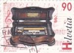 Sellos de Europa - Suiza -  INSTRUMENTO MUSICAL