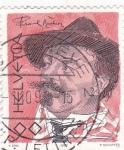 Sellos de Europa - Suiza -  FRANK BUCHSER -ARTÍSTA