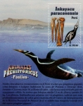 Stamps : America : Peru :  Fosil de Pinguino