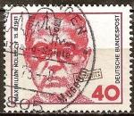 Sellos de Europa - Alemania -  Maximiliano Kolbe (1894-1941), el padre - asesinado en Auschwitz.