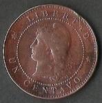monedas de America - Argentina -  LIBERTAD ARGENTINA PATACON 1895 (FRONTAL)