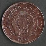 monedas de America - Argentina -  LIBERTAD ARGENTINA PATACON 1895 (POSTERIOR)