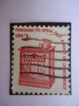 Stamps United States -  La Libertad de Hablar-La Raiz de la Democracia