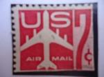 Sellos de America - Estados Unidos -  US. Air Mail