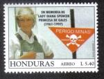 sello : America : Honduras : En memoria de Lady Diana Spenser Princesa de Gales