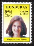 sello : America : Honduras : Mary Flake de Flores