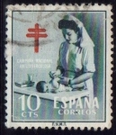 Stamps of the world : Spain :  1953 Pro Tuberculosis - Edifil:1122