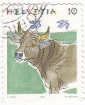Stamps : Europe : Switzerland :  ILUSTRACIÓN- VACA