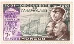 Stamps Europe - Monaco -  Decouverte De LAnaphylaxie