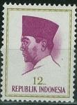 Sellos de Asia - Indonesia -  Presidente Sukarno