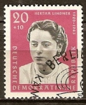 Sellos de Europa - Alemania -  Anti-fascistas, Hertha Lindner(DDR).