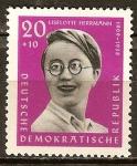 Sellos de Europa - Alemania -   Anti-fascistas, Liselotte Herrman(DDR).