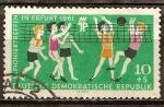 Sellos de Europa - Alemania -   IV encuentro pionero en Erfurt en 1961(DDR).