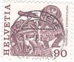 Stamps Switzerland -  FIESTAS POPULARES