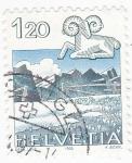 Stamps Switzerland -  HORÓSCOPO Y PAISAJE