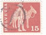 Stamps Switzerland -  VENDEDOR AMBULANTE