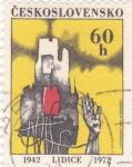 Sellos de Europa - Checoslovaquia -  30 ANIVERSARIO DE LA DESTRUCCIÓN DE LIDICE