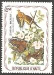 Stamps : America : Haiti :  Fauna, zenaidura macroura