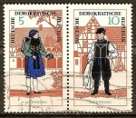 Sellos de Europa - Alemania -  Trajes folklóricos .Altenburger-pareja-(DDR).