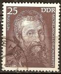 Sellos de Europa - Alemania -  Michelangelo Buonarroti 1475-1564(DDR)
