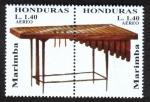Stamps : America : Honduras :  Instrumentos Musicales Autóctonos Mesoamericanos