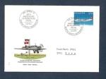 Stamps Europe - Switzerland -  50 Aniversario del primer vuelo postal Suiza-Alemania(Avión de Swissair)