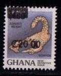 Sellos de Asia - Ghana -  Escorpión