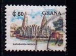Sellos del Mundo : Africa : Ghana : Mezquita Larabanga