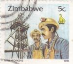 Stamps Zimbabwe -  MINA WORKERS