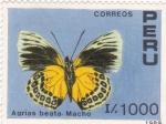 Stamps Peru -  MARIPOSA- AGRIAS BEATA