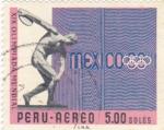 Sellos de America - Perú -  OLIMPIADA DE MÉXICO