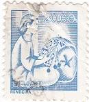 Sellos de America - Brasil -  RENDEIRAS- Artesanía manual