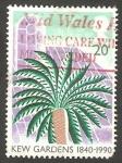 Stamps United Kingdom -  1464 - 150 anivº de los Jardínes botánicos de Kew, palmera
