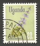 Stamps : Africa : Uganda :  Flor