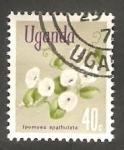 Stamps : Africa : Uganda :  87 - Flor ipomea spathulata