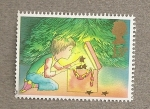 Stamps United Kingdom -  Niños