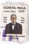 Stamps Costa Rica -  Correo aereo Amadeo Quirós Blanco