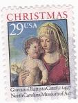 Stamps United States -  LA VIRGEN Y EL NIÑO- CHRISTMAS