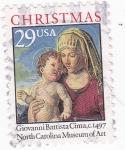 Sellos de America - Estados Unidos -  LA VIRGEN Y EL NIÑO- CHRISTMAS