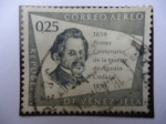 Sellos de America - Venezuela -  Primer Centenario de la Muerte de Agustín Codazzi - 1859-1959