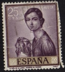 Stamps of the world : Spain :  1657.- Romero de Torres. Niña de la Jarra