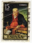 Stamps of the world : Spain :  2153.- Vicente Lopez Portaña. El Organista Felix Lopez.