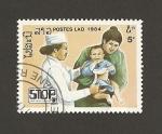 Sellos de Asia - Laos -  Médico atendiendo niño