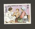 Stamps Laos -  Madre y enfermera