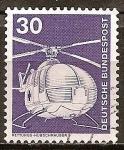 Stamps Germany -  Industria y Tecnología(Helicóptero de rescate ).