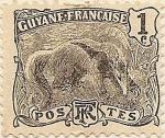 sellos de America - Guyana -  Guyane Française