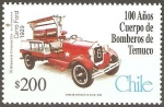 Stamps Chile -  CENTENARIO  BOMBEROS  DE  TEMUCO.  CARRO  FORD  1929.