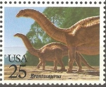 Stamps United States -  ANIMALES  PREHISTÒRICOS.  BRONTOSAURUS.